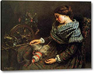 The Sleeping Spinner by Gustave Courbet - 11