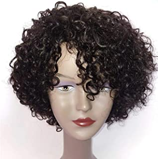 Brazilian Wigs 10 inch Short Curly Human Hair Wigs for Black Women Short Curly Wigs Natural Color