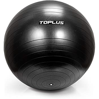 Heavy Duty Black 65Cm Inflatable Gym Sit Up Exercise Ball Strong Non Slip Rubber