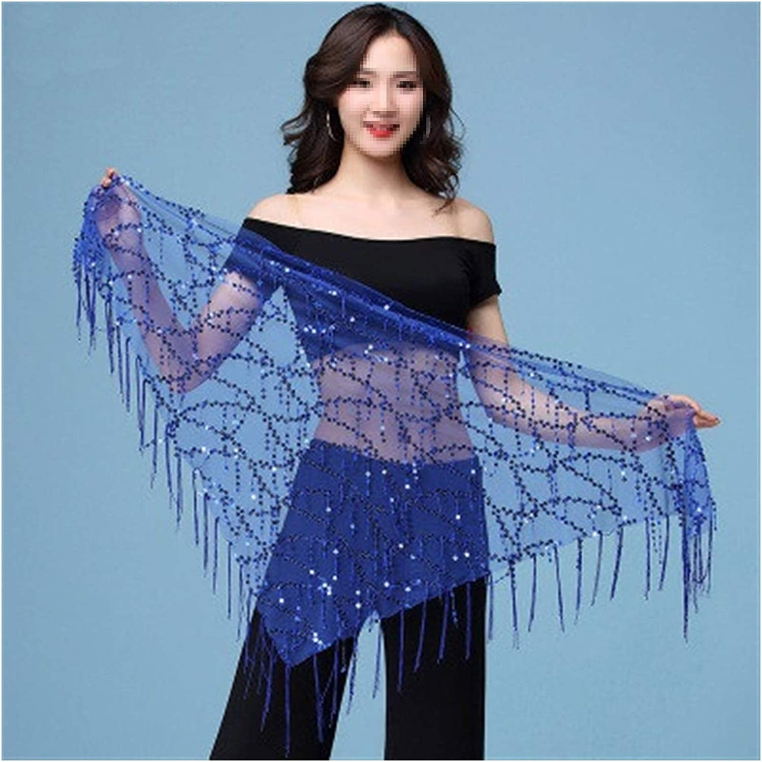 YHDZSWB Style Belly Dance Costumes Sequins Tassel Indian Belly Dance Hip Scarf for Women Belly Dancing Belt 11kinds of Colors Color : Black Gold, Size : One Size