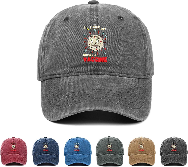 Kritin I Got My Vaccine Hat, Vaccination Baseball Cap Jeans Unisex Cotton Trucker Dad Hat