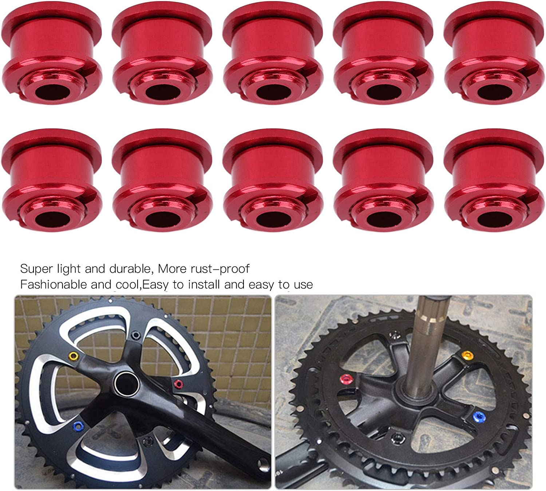 Single Speed Chainring Bolts 10Pcs 4.9MM Aluminium Alloy Single Short Chain Ring Bolts for Mountain Bike Road Bike