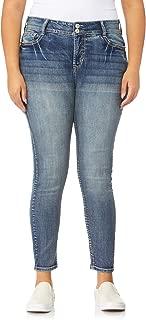 WallFlower Women's Plus-Size Embellished Pocket Luscious Curvy Skinny Jeans