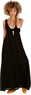 Indah Anjeli Plunge Maxi Dress Black