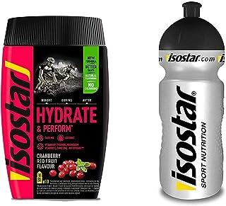 Isostar Hydrate & Perform Iso Drink - 400 g de bebida isotónica en polvo - polvo de electrolitos para apoyar el rendimiento deportivo - toronja + botella de 0.5 litros