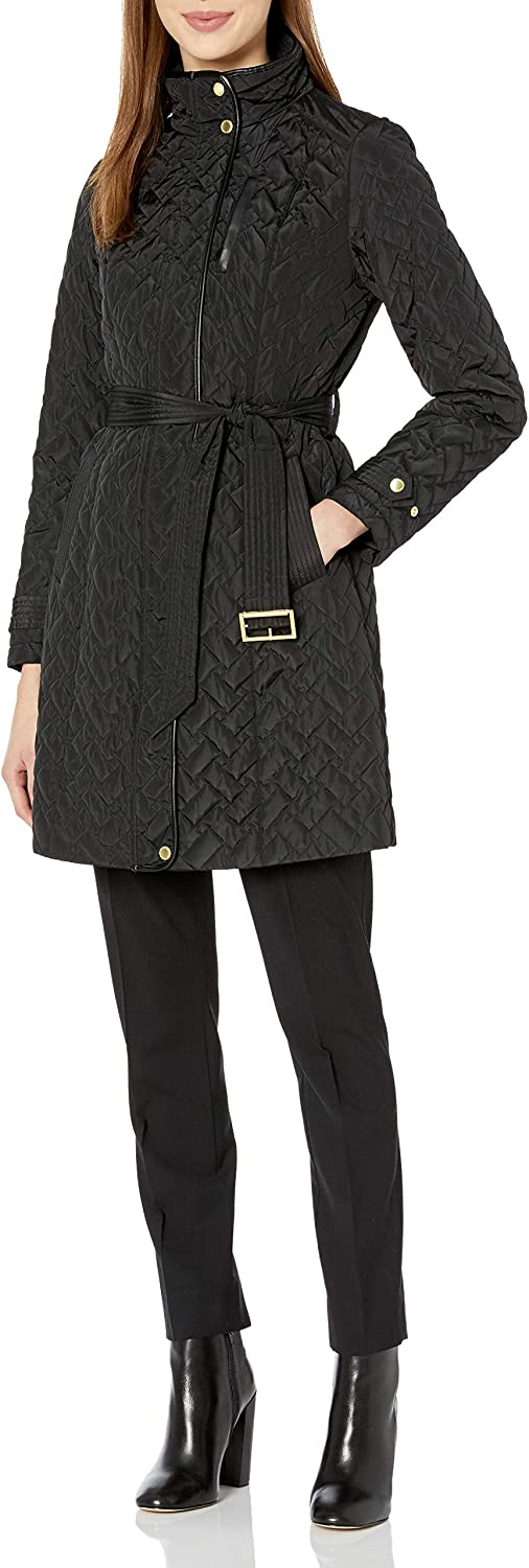 Cole Haan Women's Quilted Belted Jacket trust Sale item