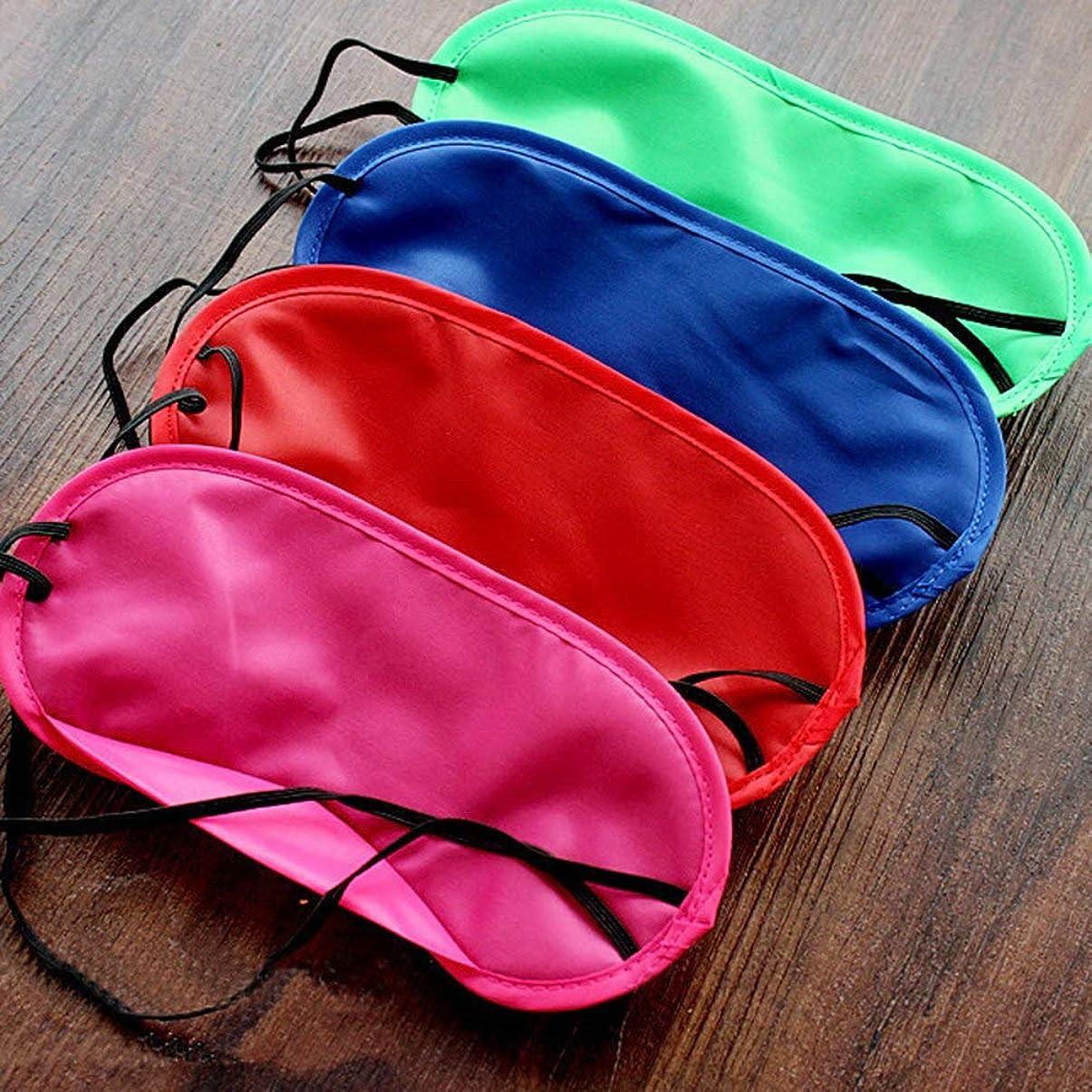 NOTE 12ピース多色アイマスクカバー軽量アイシェード目隠し睡眠マスク弾性ストラップ用キッズ女性男性