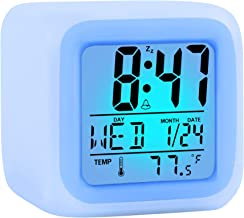 ZALIK Alarm Clock Kids Wake Up Easy Setting Digital Travel for Boys Girls, Large Display Time/Date/Alarm with Snooze, Beds...