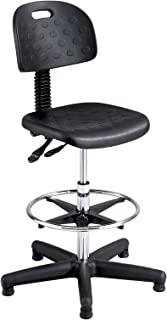 Safco Products Soft Tough Extended Height Deluxe Workbench Chair (Additional options sold separately), Black
