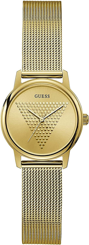 Guess - Reloj analógico para mujer con correa de malla de acero inoxidable
