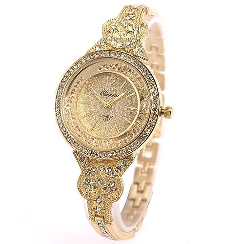 5198e783935 SIBOSUN Lady Women Wrist Watch Quartz Luxury Stainless Steel Band Bracelet  Crystal