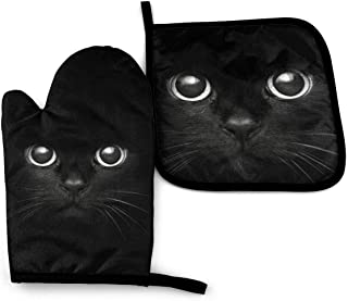Quilted cat Hot Pad Set of two Cat Hot Pads Cat Pot Holder Gift Set Cat Lovers Gift Cat Pot holders
