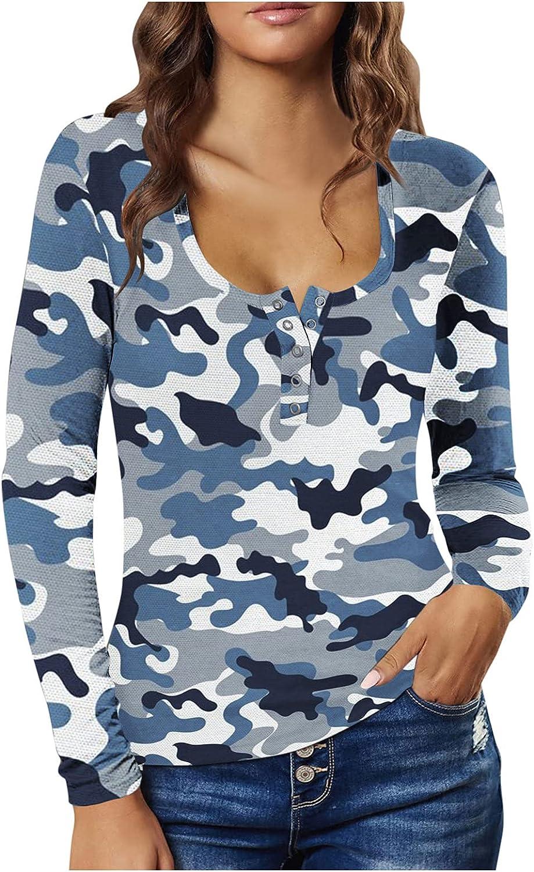 Hemlock Women Button Up Tees Tunic Blouse Scoop Neck Pullovers Long Sleeve Tops Slim Shirts Tunics