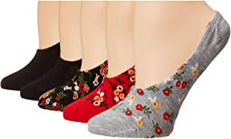 5-Pack Pattern Footies Socks
