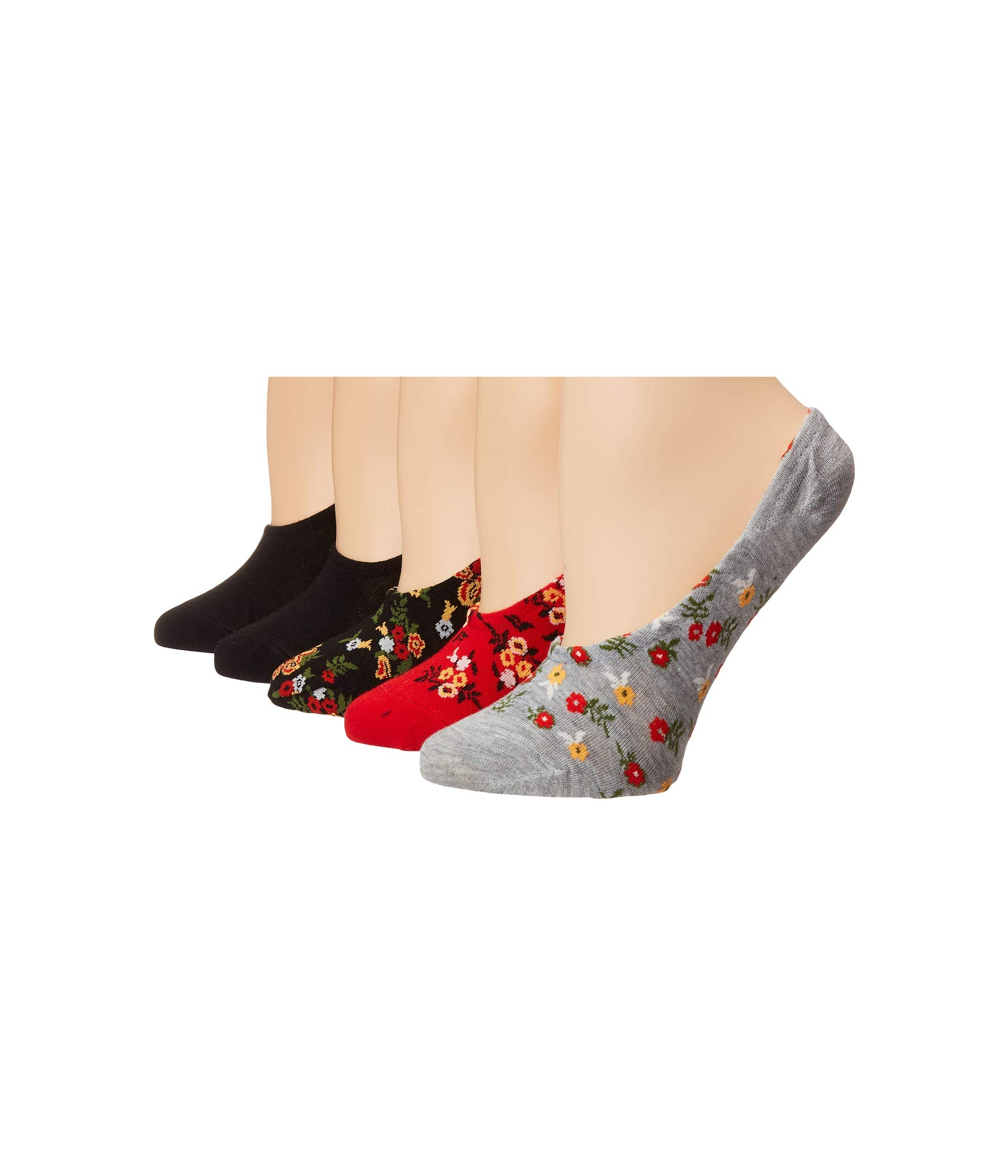 pack Johnson Multi 5 Footies Pattern Socks Betsey Flower gACqwT