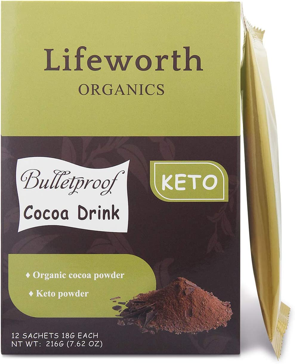 Keto Cocoa Shake Gorgeous - with MCT Fiber 18g Powder Houston Mall Prebiotic Per Oil