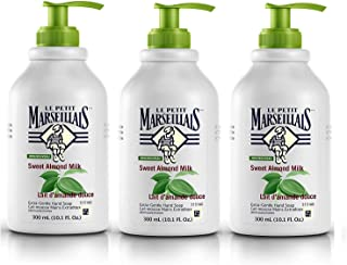 Le Petit Marseillais Extra Gentle Liquid Hand Soap with Sweet Almond Milk, French Moisturizing Hand Soap pH Neutral for Skin, 10.1 fl. oz, 3 Pack