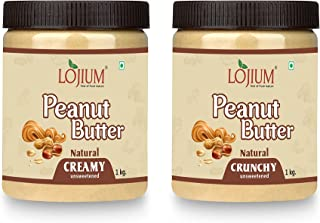 YINO PENUT BUTTER -NATURAL(CREAMY /CRUNCHY)| Unsweetened | Made with 100% Roasted Peanuts | 30% Protein | No Added Sugar |...