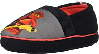 LEGO Ninjago Slippers with Kai and Lloyd, Easy Slip On Slippers for Kids, Little Kid Size 9/10 to Big Kid Size 2/3