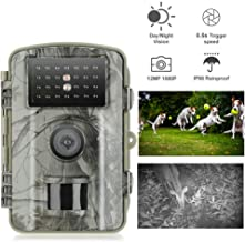 Gosira Trail Game Camera 12mp 1080p Waterproof Hunting Scouting Cam for Wildlife Monitoring Hunting Camera Motion Activated with 120°Detect Range 0.4s Trigger Speed Night Vision up to 65ft/20m