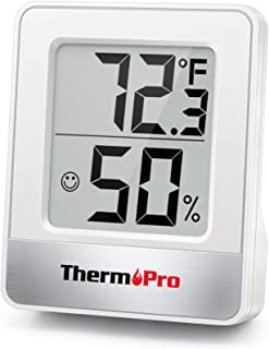 ThermoPro TP49-W Mini Hygrometer Thermometer with Large Digital Display Indoor Thermometer Humidity Gauge Monitor for Baby...