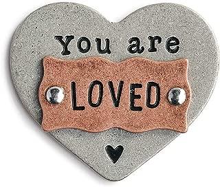 DEMDACO You are Loved Inspirational Metallic 2 x 2 Metal Collectible Heart Token