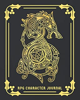 RPG Character Journal: DnD DM Notebook With 50 Character Sheets and 100 Mixed Pages (Lined, Graph, Hex & Blank)For Role Pl...