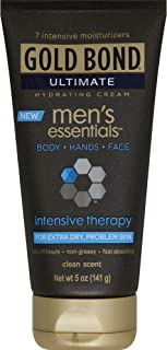 Gold Bond Ultimate Men's Essentials Intensive Therapy Hydrating Cream 5 oz (Pack of 4)
