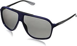 Carrera CA6016S Rectangular Sunglasses, Blue Gray, 62 mm