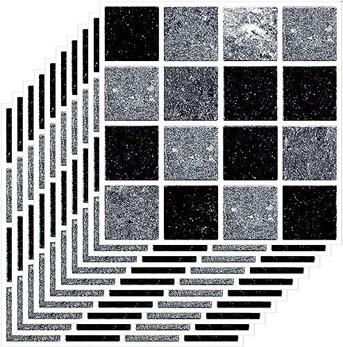 wholesale 3D Crystal Tile 2021 Sticker, Self-Adhesive Tile Sticker, DIY Waterproof Tile Wall outlet online sale Sticker for Home Living Room Kitchen Bathroom Decoration, 10x10cm, 10 pcs/Set (Style C) outlet online sale