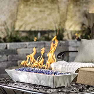 Lakeview Outdoor Designs Westfalen 24-Inch Table-Top Propane Fire Pit - Stainless Steel (Ships as Natural Gas w/Conversion Kit)