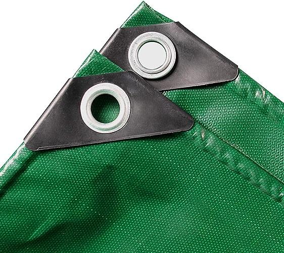 LXLA- Baches anti-pluie robustes avec oeillets, Housse de prougeection solaire pour voiture en bache imperméable verte - 450g   m2 (taille   4m x 5m)