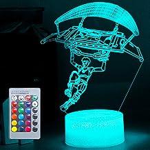 Speelliefhebber 3D nachtlampje LED speelgoed jongen cadeaus nachtlampje nachtkastje 16 kleuren tafellamp ideeën geschenk 3...