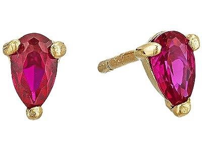 SHASHI Whitney Stud Earrings (Ruby) Earring