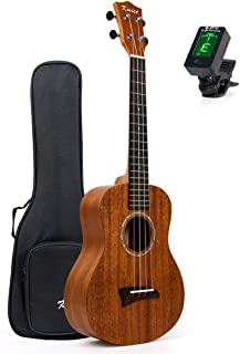 Solid Mahogany Ukalele Tenor Ukulele 26 inch Uke Hawaii Guitar Matt W/Bag and Clip-on Tuner From Kmise