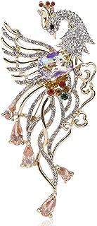 Phoenix Bird CZ Stone Austrian Rhinestone Crystal Brooch Pin Animals White Purple K532