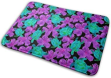 Midnight Sea Turtles Carpet Non-Slip Welcome Front Doormat Entryway Carpet Washable Outdoor Indoor Mat Room Rug 15.7 X 23.6 i
