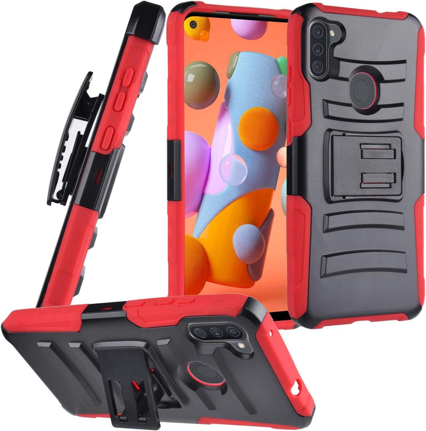 CELZEN - for Samsung Galaxy A11 (SM-A115) - Phone Case w/Belt Clip Holster - CV1 Red