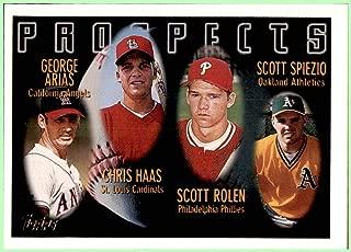 1996 Topps #434 SCOTT ROLEN PHILLIES GEORGE ARIAS ANGELS CHRIS HAAS CARDINALS SCOTT SPIEZIO A's ATHLETICS