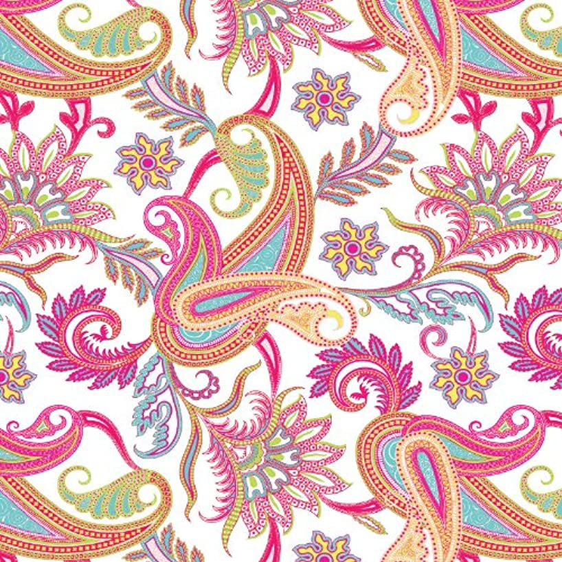 Jillson Roberts 6-Roll Count All-Occasion Floral Gift Wrap Available in 11 Different Designs, Perfectly Paisley