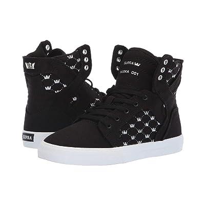 Supra Kids Skytop (Little Kid/Big Kid) (Black/White Crown/White) Boys Shoes