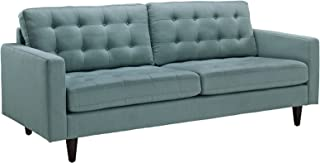 Modway Empress Mid-Century Modern Upholstered Fabric Sofa In Laguna