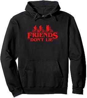 Stranger Things Group Shot Red Friends Don't Lie Sweat à Capuche