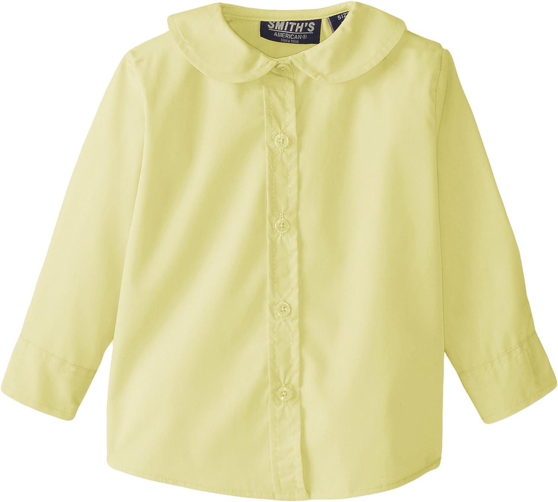 Smith's 2021 model Fashion American Girls' Peter Pan Long Collar Blouse Sleeve