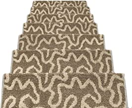 HAIPENG Non Slip Stair Carpet Treads Pads Mats Rectangular Step Rugs Staircase Ottomans, 12mm, 3 Sizes, 5 Colors (Color : ...