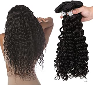 Hannah Queen Hair Brazilian Curly Hair Weave 3 Bundles (16 18 20,300g) Virgin Kinky Curly Human Hair Weave 8A 100% Unprocessed Hair Weft Extensions Natural Black Color