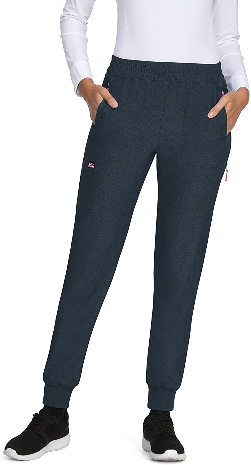 KOI Stretch 748 Free Shipping New Women's Power Denver Mall Navy Heather Jogger X-Small Pant