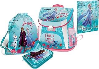 Disney Eiskönigin Frozen Schulranzen Mädchen 1 Klasse Tornister Schulrucksack Schultasche Set 5 teilig für Grundschule | i...