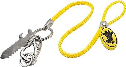 zipVer® Schlüsselband mit Karabiner Schlüsselanhänger Lanyard Edelstahl Flaschenöffner Anti-Stress Fidget Ausweis Umhängeband Key Organizer Kette
