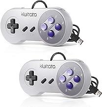 2 Pack SNES Retro USB Super NES Controller,KIWITATA Super Classic SNES USB Controller Gamepad Joystick for Windows PC Mac ...